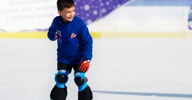 hockey boy happy
