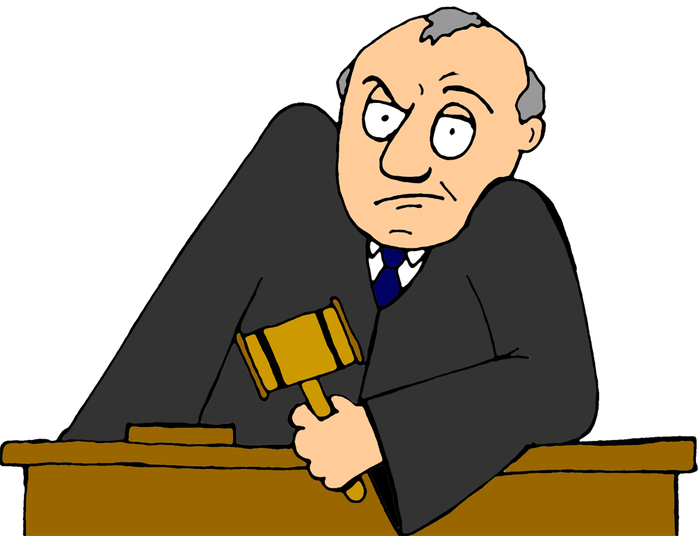 A judge-cartoon