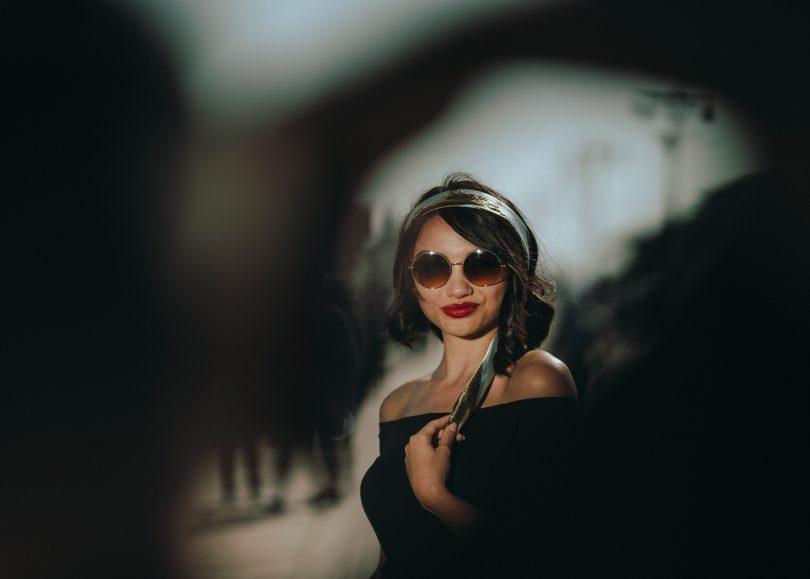 woman sunglasses lipstick