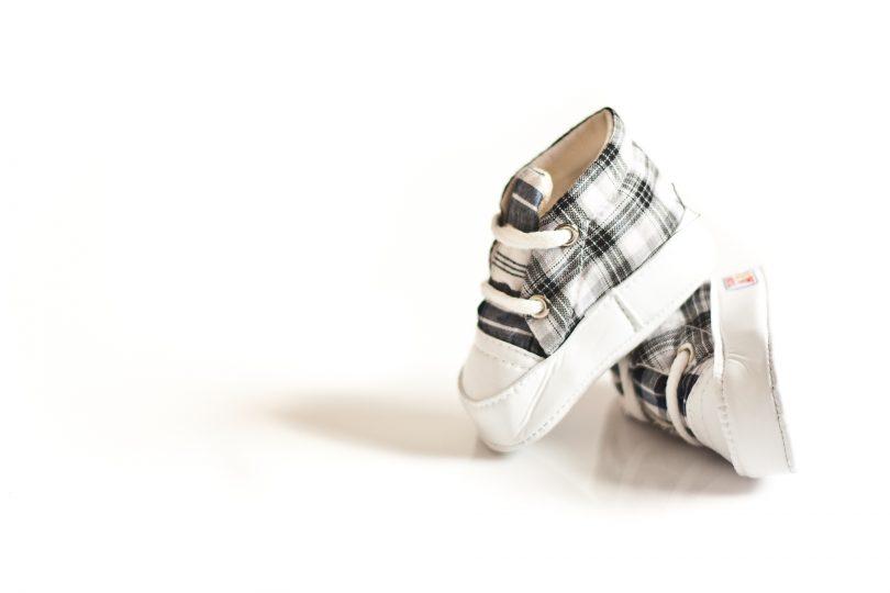baby boy shoes plaid