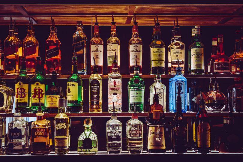 rustic alcohol bar