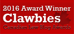2016 Canadian Law Blog Winner