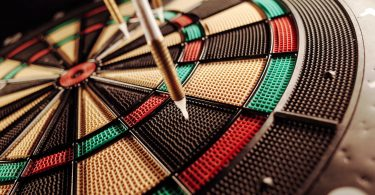 Dart-Pins-on-Electric-Dartboard