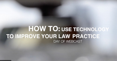how to use technology to improve your law practice vlog title