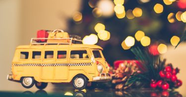 Yellow-van-suitcases-lights