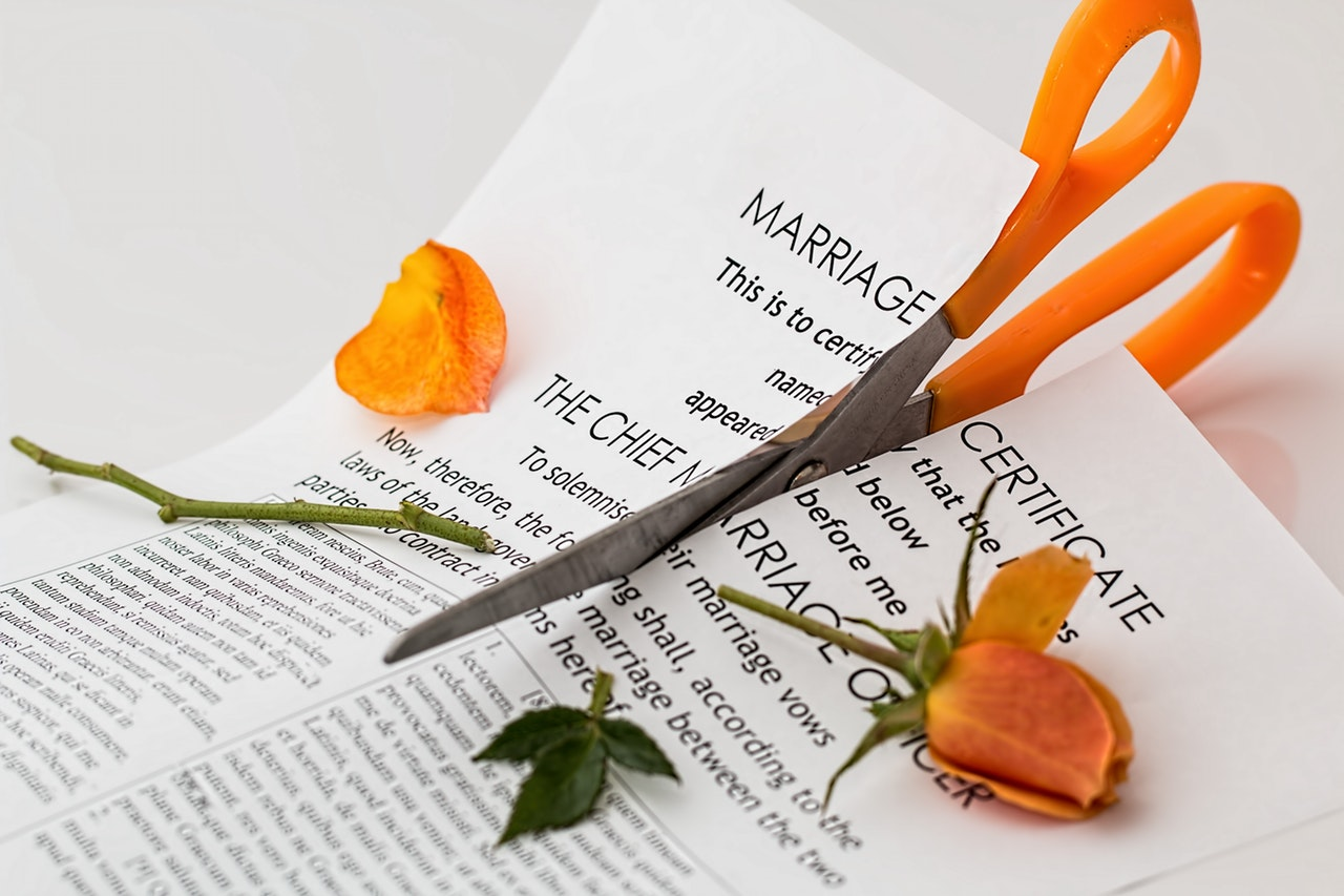 marriage certificate-scissors