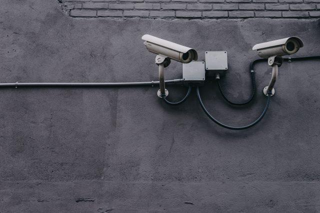grey security cameras