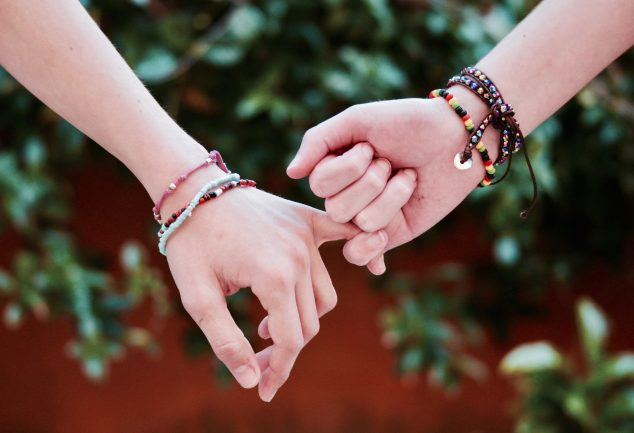 holding hands bracelets