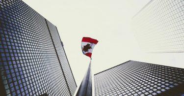 toronto ontario canada skyscraper flag