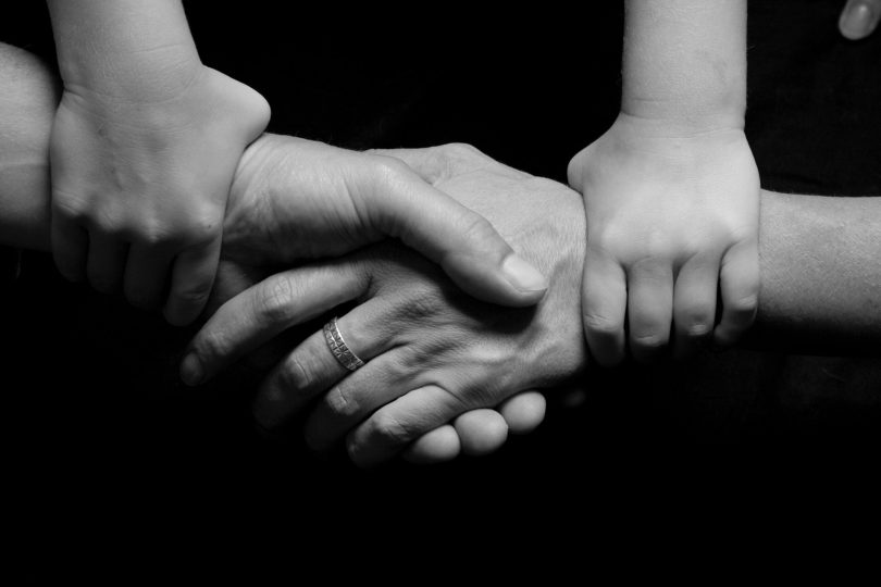 connected hands