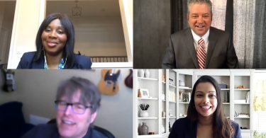 four lawyers on zoom podcast